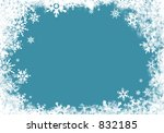 border with snowflakes | Shutterstock . vector #832185
