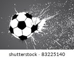 football ball on gray... | Shutterstock .eps vector #83225140