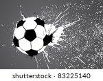 football ball on gray...   Shutterstock .eps vector #83225140