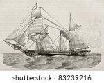 Steamer Old Illustration. By...