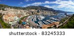 Monte Carlo city panorama, Monaco - stock photo