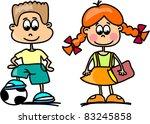 cartoon children  students | Shutterstock .eps vector #83245858