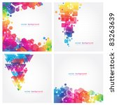 4 Abstract Colorful Background. ...