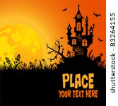 halloween background with house ... | Shutterstock .eps vector #83264155