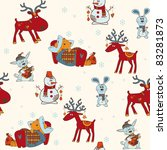 christmas seamless pattern | Shutterstock .eps vector #83281873