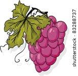 cluster of grapes vector... | Shutterstock .eps vector #83288737