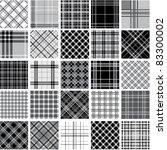 big black   white plaid... | Shutterstock .eps vector #83300002