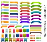 ribbons big set  isolated on... | Shutterstock .eps vector #83300137