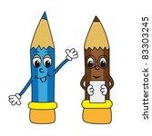cartoon pencils | Shutterstock .eps vector #83303245