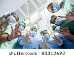 group of doctors and nurses at... | Shutterstock . vector #83312692