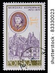 poland   circa 1970  a stamp is ... | Shutterstock . vector #83330023
