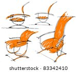 sketches of furniture | Shutterstock .eps vector #83342410