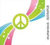 colorful peace background | Shutterstock .eps vector #83356918