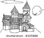 dark halloween castle | Shutterstock .eps vector #8335888