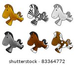 set of cute baby horses shine... | Shutterstock . vector #83364772