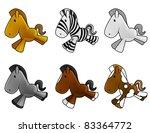 set of cute baby horses shine... | Shutterstock . vector #83364772