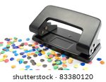 hole puncher and colorful...