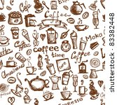 coffee time  seamless... | Shutterstock .eps vector #83382448