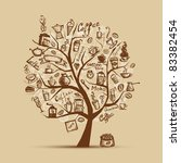 cofee time. art tree for your... | Shutterstock .eps vector #83382454