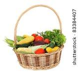 harvested fresh vegetables and... | Shutterstock . vector #83384407