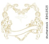 romantic gold angels card | Shutterstock .eps vector #83413525