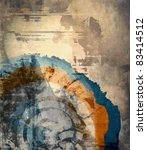 vector abstract art grunge...   Shutterstock .eps vector #83414512