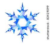 origami snowflake   Shutterstock .eps vector #83419099