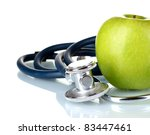 Medical Stethoscope And Apple...