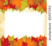 autumn background with leaves... | Shutterstock . vector #83457292