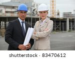 portrait of two contractors | Shutterstock . vector #83470612