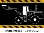 loader excavator construction...   Shutterstock .eps vector #83497012