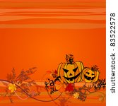 vector cute halloween... | Shutterstock .eps vector #83522578