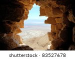 View From Masada Fortress In...