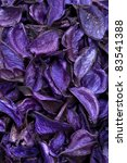 dry violet,purple,blue plants,leaves,pods background - stock photo