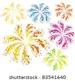 Brightly Colorful Vector...