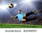 football player on field of... | Shutterstock . vector #83548507