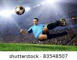 football player on field of... | Shutterstock . vector #83548507
