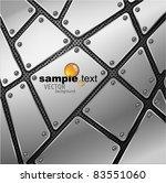 glossy metal plate vector... | Shutterstock .eps vector #83551060