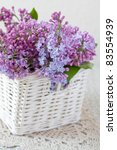 Lovely Lilac In A White Basket...