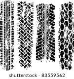 four tire tracks | Shutterstock .eps vector #83559562