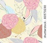 abstract flower seamless... | Shutterstock .eps vector #83573230