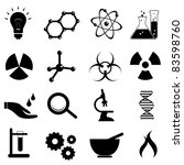 science icon set in black | Shutterstock .eps vector #83598760