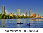 beautiful austin skyline... | Shutterstock . vector #83600203