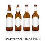 Realistic Glass Beer Bottle...