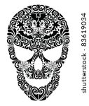 Pattern in a shape of a skull. - stock vector