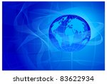 abstract blue background with... | Shutterstock .eps vector #83622934