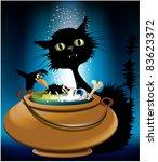 halloween magic animals | Shutterstock . vector #83623372