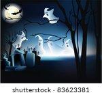 halloween scene with ghosts | Shutterstock . vector #83623381