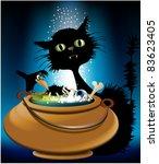 halloween magic animals | Shutterstock .eps vector #83623405