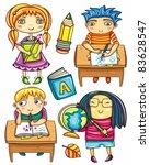 group of cute  little... | Shutterstock .eps vector #83628547